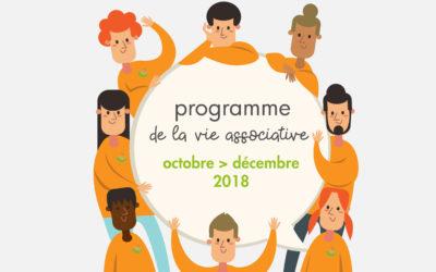 Programme des événements octobre, novembre, décembre 2018